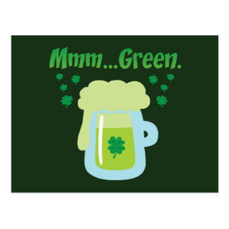 Cerveza verde postal