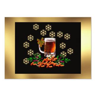 Cerveza y cacahuetes invitación 12,7 x 17,8 cm