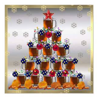 Cerveza y microprocesadores invitación 13,3 cm x 13,3cm