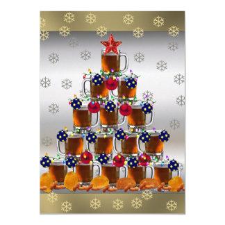 Cerveza y microprocesadores invitación 12,7 x 17,8 cm