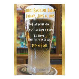 Cerveza yo despedida de soltero invitación 12,7 x 17,8 cm