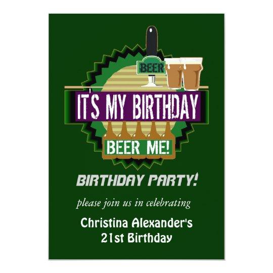 Cerveza yo invitaciones de la fiesta de cumpleaños invitación 12,7 x 17,8 cm