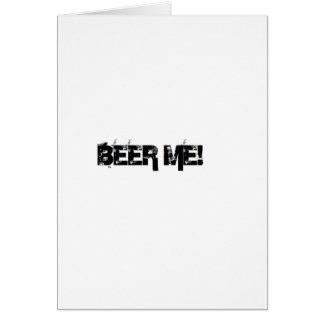 Cerveza yo tarjeta de felicitación