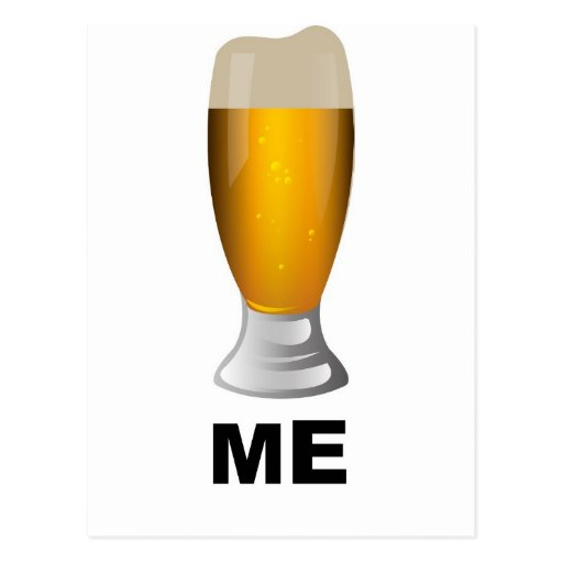 Cerveza yo tarjeta postal