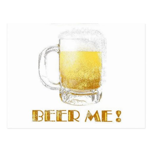 ¡Cerveza yo! Tarjeta Postal