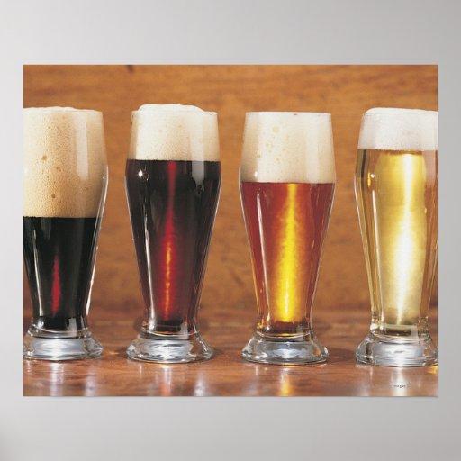 Cervezas y cervezas inglesas clasificadas posters