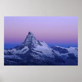 Cervino en el amanecer, Zermatt, montañas suizas, Póster