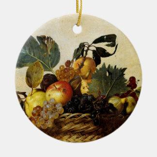 Cesta con la fruta, Caravaggio Adorno Redondo De Cerámica