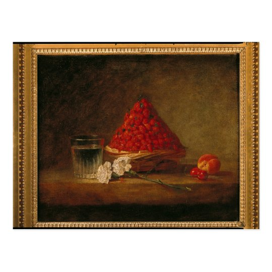 Cesta con las fresas salvajes, c.1761 postal
