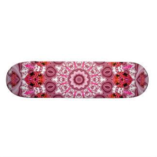 Cesta de cordón, rojo abstracto, rosa, mandala monopatines