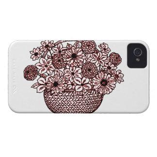 Cesta de flores funda para iPhone 4 de Case-Mate