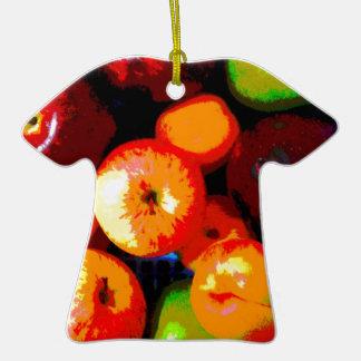 Cesta de fruta adorno de cerámica en forma de camiseta