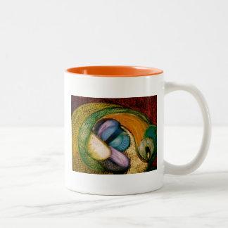 cesta de fruta taza de café