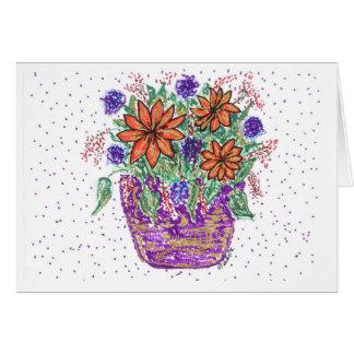 Cesta de la flor de la primavera tarjeta de felicitación