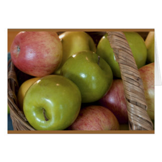 Cesta de manzanas tarjeta de felicitación