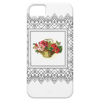 cesta de rosa rojo de las flores funda para iPhone SE/5/5s