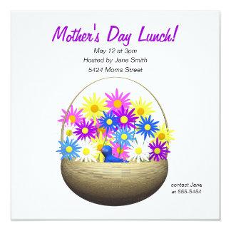 Cesta del día de madres de almuerzo de las invitaciones personalizada