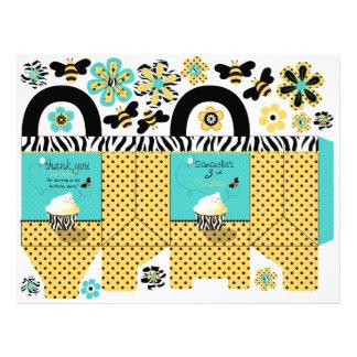 Cesta del favor de fiesta de la abeja del cumpleañ folleto 21,6 x 28 cm