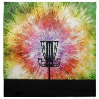 Cesta del golf del disco del teñido anudado servilleta de tela