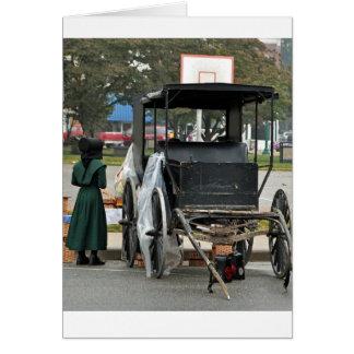 Cestas hechas en casa de Amish Tarjeta