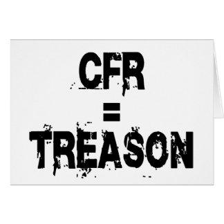 CFR = traición Felicitacion