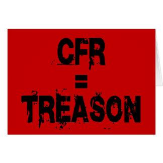 CFR = traición Tarjeta De Felicitación