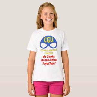 ¡CGU que los frikis conseguimos pegarnos junto! Camiseta