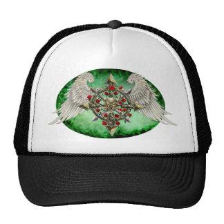 Cha-O-Estrella (óvalo verde) Gorros