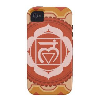 Chakra 1 - 1r Chakra raíz Muladhar Case-Mate iPhone 4 Fundas