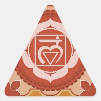 Chakra 1 - 1r Chakra raíz Muladhar Pegatina Trianguladas Personalizadas
