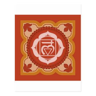 Chakra 1 - 1r Chakra raíz Muladhar Tarjeta Postal