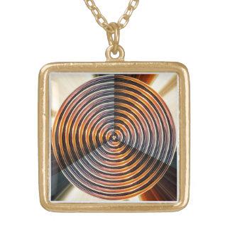 Chakra de oro: Rueda de la cura de la energía Colgantes Personalizados