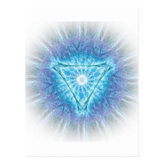 chakra del corazón (अजन del ajna) postal