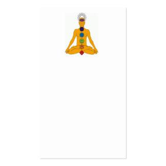 chakras de la yoga tarjeta de negocio