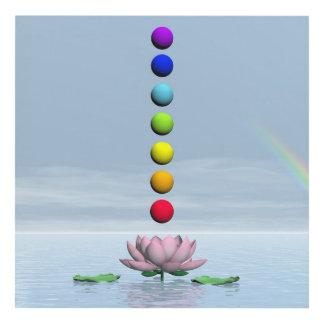 Chakras y arco iris - 3D rinden Cuadro