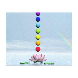 Chakras y arco iris - 3D rinden Lienzo