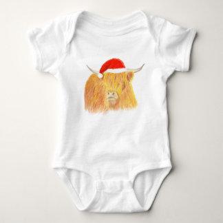 Chaleco del bebé de la vaca de la montaña del body para bebé