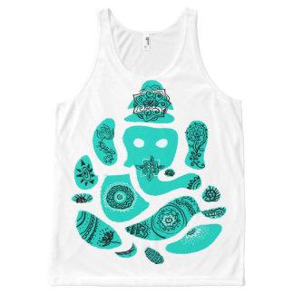 Chaleco hindú del elefante asiático de Ganesh Camiseta De Tirantes Con Estampado Integral