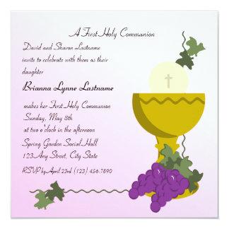 Chalis y comunión de las uvas 1ra comunicados personalizados