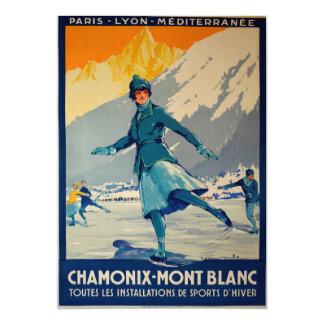 Chamonix - Mont Blanc Invitación 12,7 X 17,8 Cm