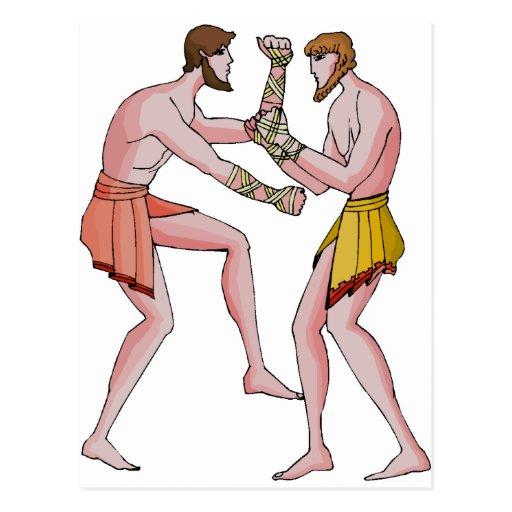 Champin de lucha 396 A.C. Tarjeta Postal