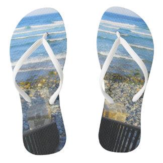 Chanclas Acceso rocoso de la playa de York
