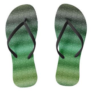 Chanclas Adulto de encargo verde elegante, correas delgadas