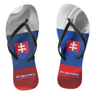 Chanclas Bandera eslovaca