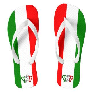 Chanclas Bandera moderna del italiano de Italia de la