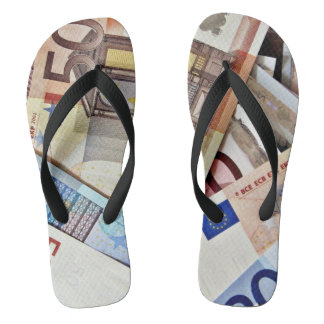 Chanclas Calzado euro del billete de banco