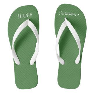 Chanclas Correa blanca ancha sólida del verde W del verano