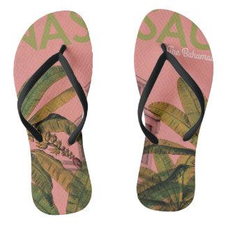 Chanclas Correas modeladas diseño retro o flips-flopes