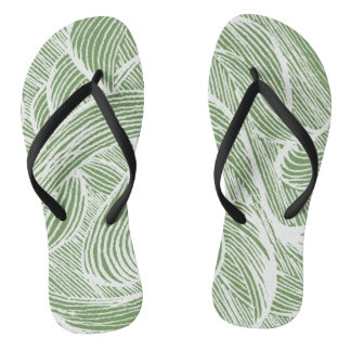 Chanclas curly lines leaf