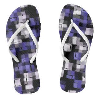 Chanclas De moda blanco negro púrpura azul